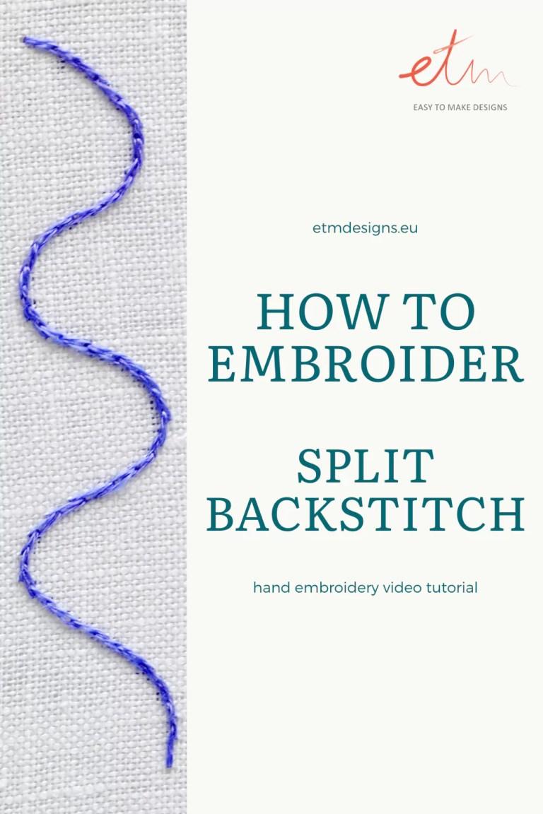 Split backstitch video tutorial PIN