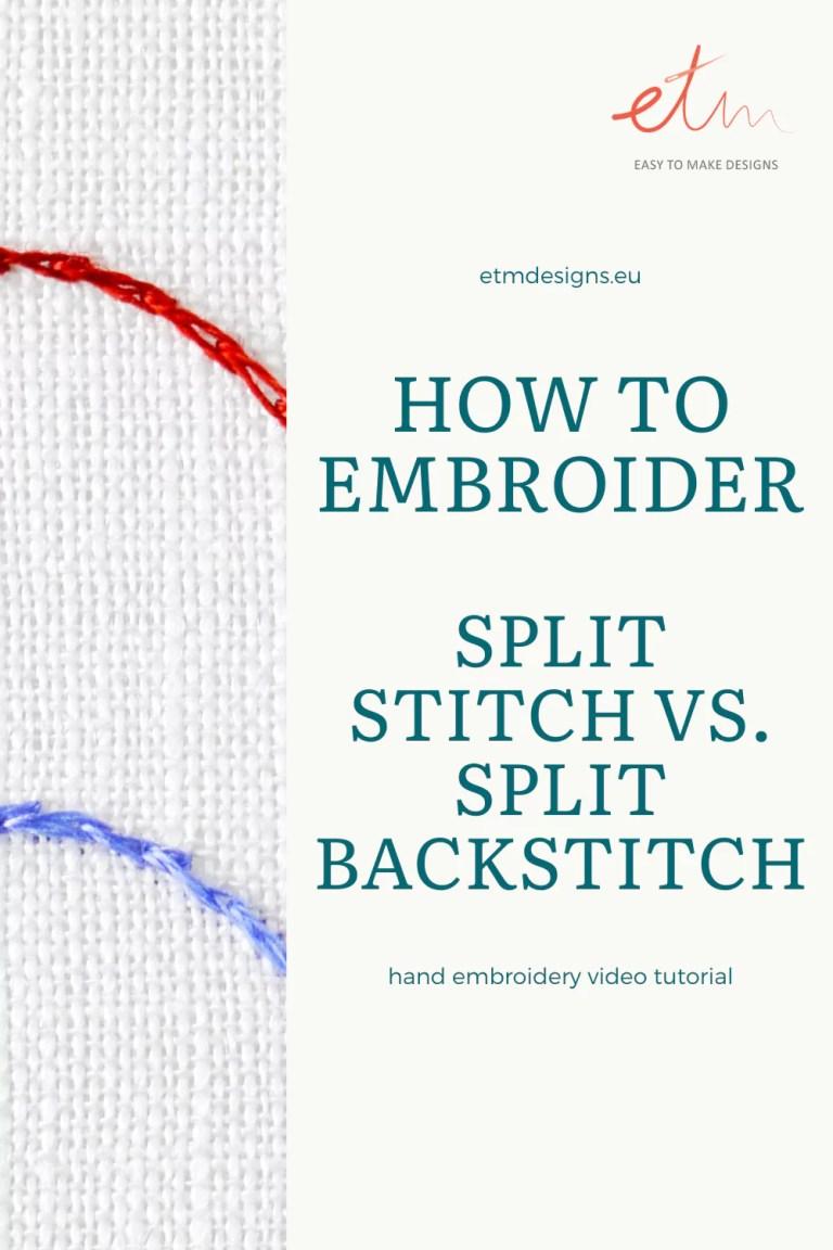 Split stitch vs. Split backstitch PIN