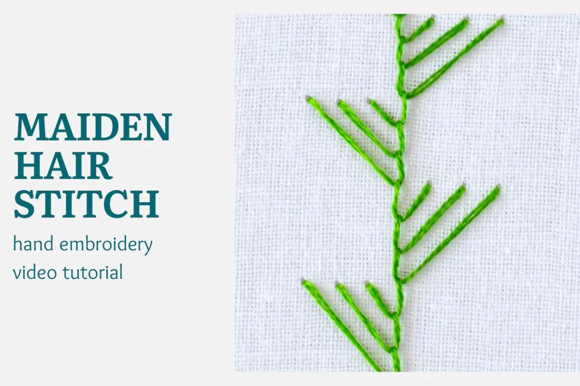 Maidenhair stitch video tutorial