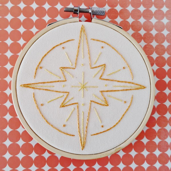North Star hand embroidery pdf pattern 3