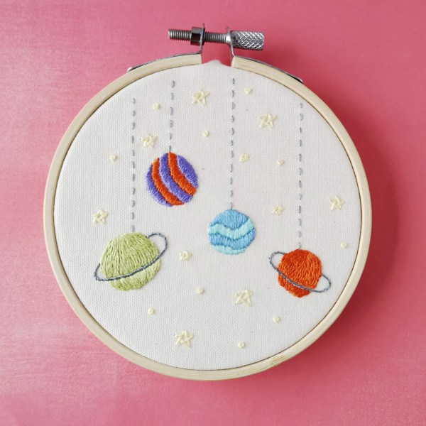 Toy Galaxy hand embroidery pdf pattern