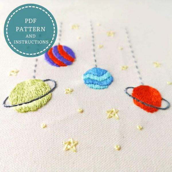 Toy Galaxy embroidery pattern pdf