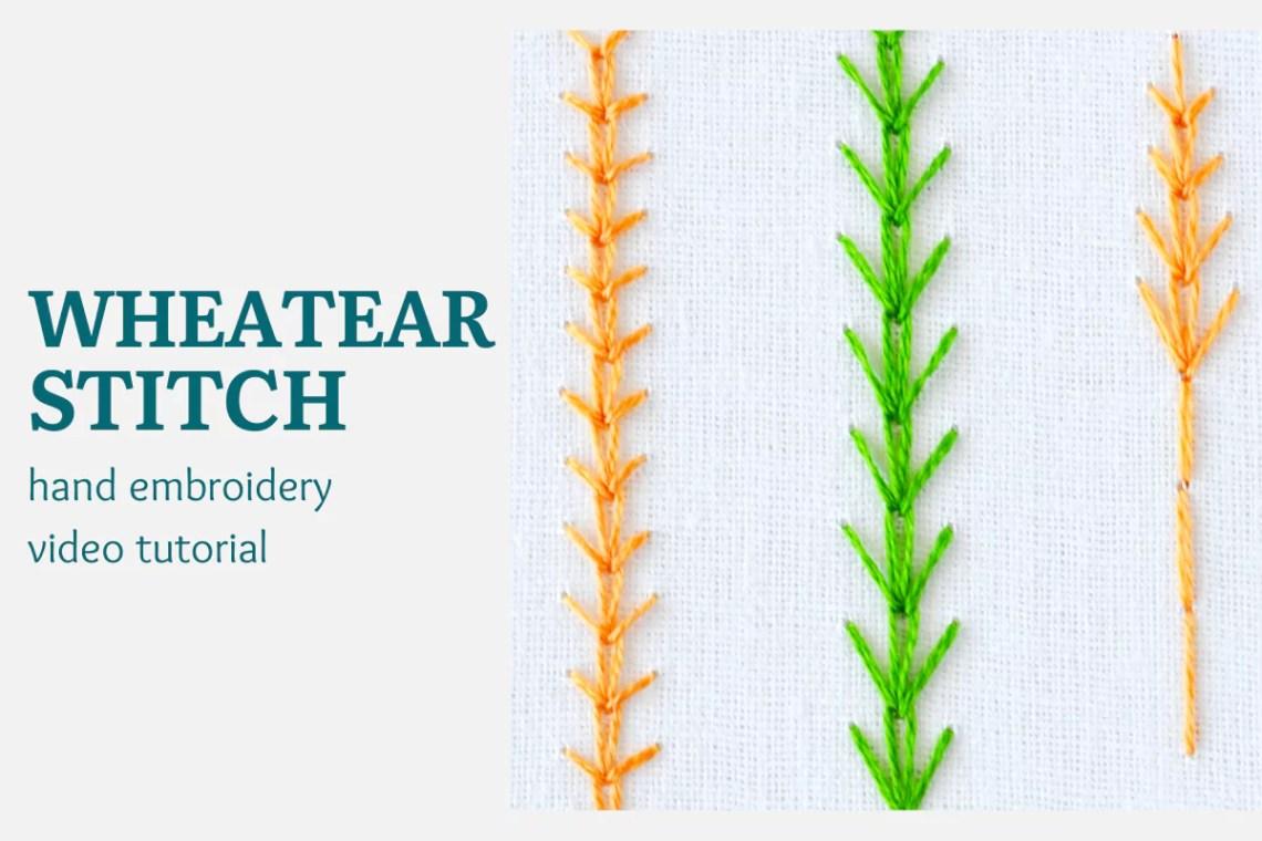 Wheatear stitch video tutorial