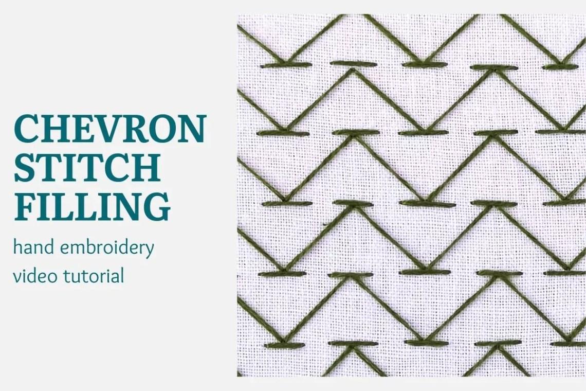 Chevron stitch filling video tutorial