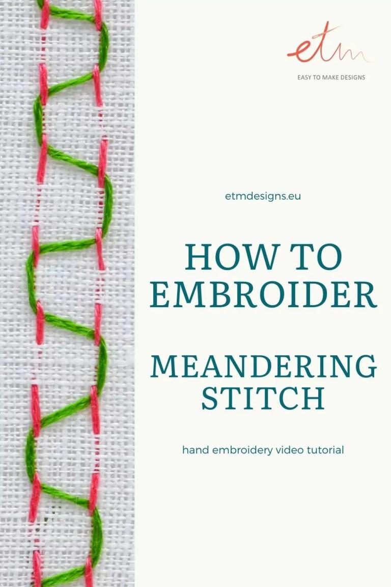 Meandering stitch video tutorial