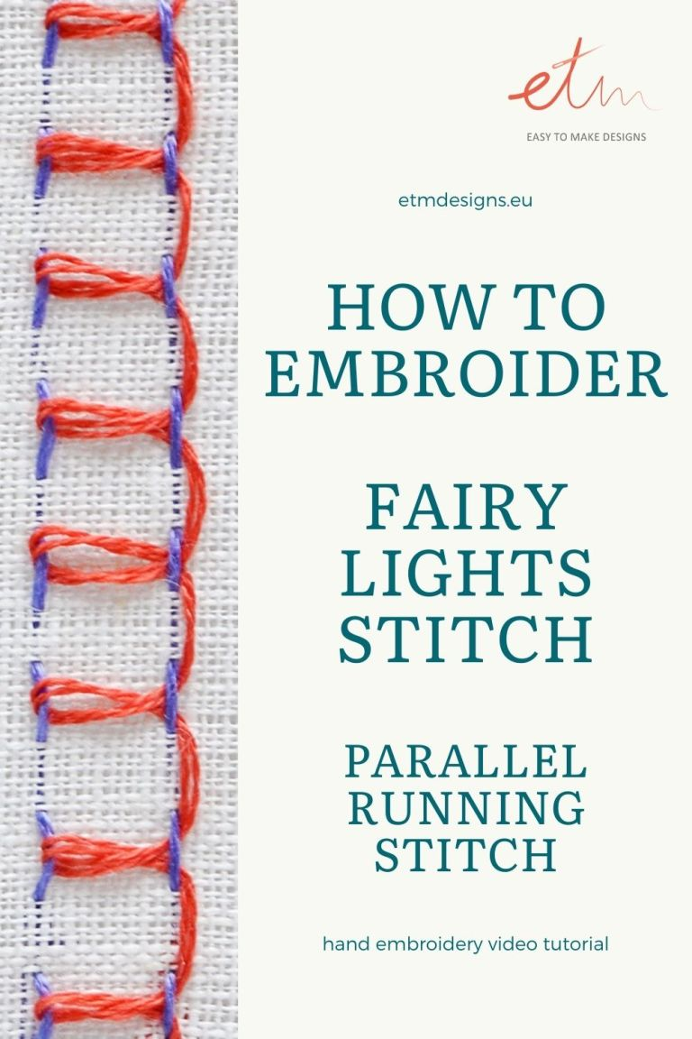 Fairy lights stitch hand embroidery video tutorial