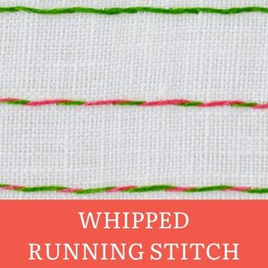 Whipped running stitch