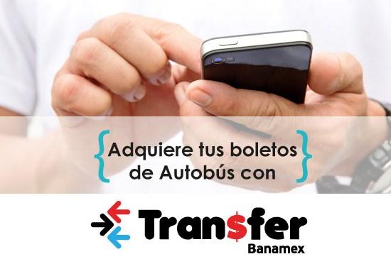 Compre sus boletos de autobús con Transfer Banamex