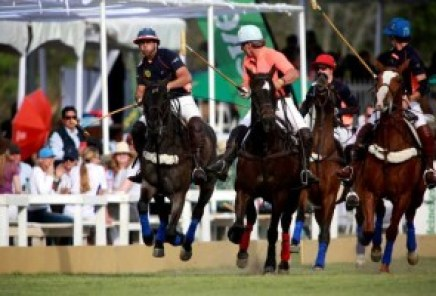 LEON, GUANAJUATO, MEXICO - FEBRUARY 20th: Aga team against AB Team during match between Aga and AB in the Mexico Polo Tour, held at Parque Metropolitano de Leon in leon, Guanajuato, Mexico. (Photo by Victor Straffon/ Straffonimages/Mandatory Credit/Editorial Use/Not for Sale/Not Archive)