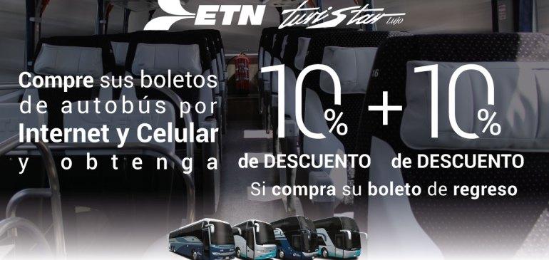 Boletos de Autobús con Descuento, ETN Turistar Lujo