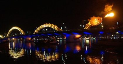 Vietnam's fire-breathing dragon bridge
