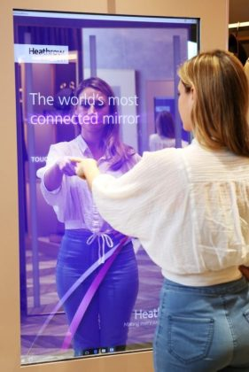 Heathrow Airport unveils World's Most Connected Mirror