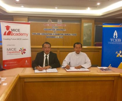 Thailand's Assumption University signs MOU with Thailand Convention and Exhibition Bureau