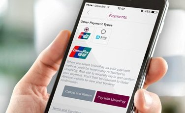 Qatar Airways partners with UnionPay International