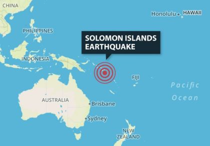 Another big earthquake strikes Solomon Islands