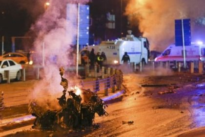 Chaos at Istanbul stadium after explosions and gunshots