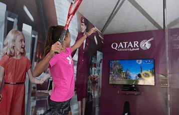 Qatar Airways celebrates ExxonMobil Open Men's Tennis 2017 tournament