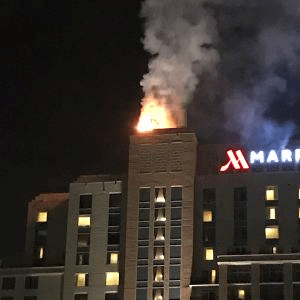 Workers accidentally set Tampa hotel roof on fire