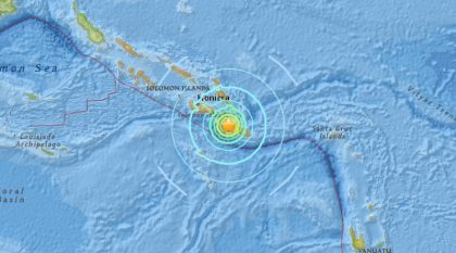 Solomon Islands rocked by 6.8 earthquake