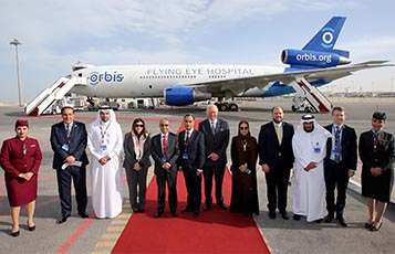 Qatar Airways welcomes Orbis Flying Eye Hospital to Doha