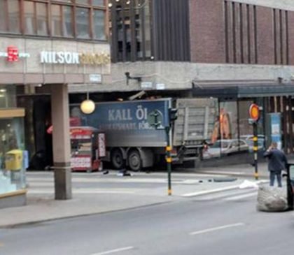 Terror in Stockholm: Five killed after truck plows into crowd, crashes into department store