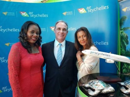 Air Seychelles celebrates Dusseldorf service at highest lounge bar in Germany