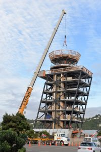 Wellington's new air traffic control tower reaches height