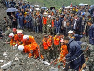China's landslide: Dozens of houses destroyed, over 100 people buried beneath rubble