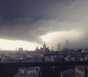 The sky is falling down: 'Storm of the century' hits Russia's capital