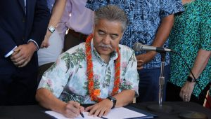 President Trump said no, Hawaii Governor Ige said yes, and a proud ICTP president Lipman congratulates