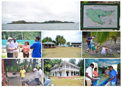 Tourism Minister inspects ongoing projects by the SNPA to improve visitors' experience on Curieuse