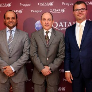 Qatar Airways hosts press conference hosted at the Hilton Hotel Prague