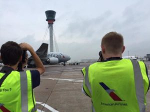 American Airlines celebrates National Aviation Day with plane-spotting 'aviation geeks'