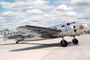 What's that silver plane in the air? Air Canada's Lockheed 10-A takes to the skies for airline's 80th anniversary