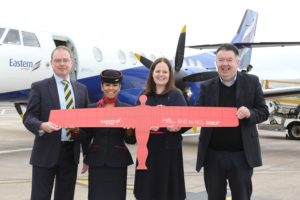 Eastern Airways' Newcastle route launches at Belfast City Airport