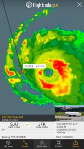 Delta Airlines B737 left San Juan for JFK while air traffic controller evacuated tower for Hurricane Irma