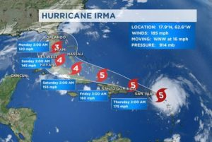 "Residents and tourists evacuate Florida: Hurricane Irma now a ""Superstorm"""