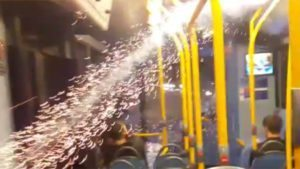 """""""Idiotic youths"""": Firework fired into crowded London double-decker bus"""