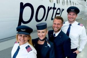 Fly pink with Porter Airlines