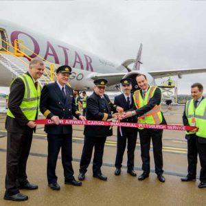 Cargo: Doha to Pittsburgh, Pennsylvania on Qatar Airways