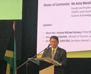 UNWTO Secretary General Taleb Rifai makes Jamaica proud