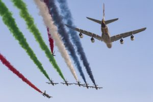 Etihad Airways: Grand Prix spectacular A380 fly-past