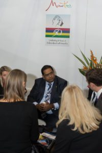 Mauritius Tourism Minister busy day at WTM