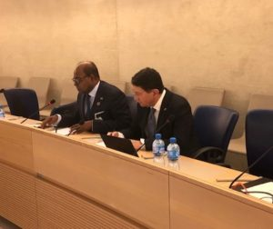 Minister Bartlett signs Montego Bay Declaration in Geneva