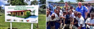 Outrigger Fiji Beach Resort guests and staff build school classrooms