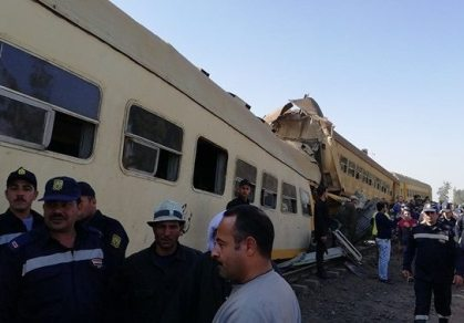 15 dead, 40 injured in Egypt passenger train collision