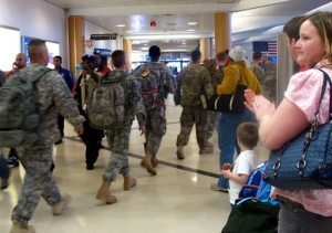 Delta Air Lines invites active military members to board early