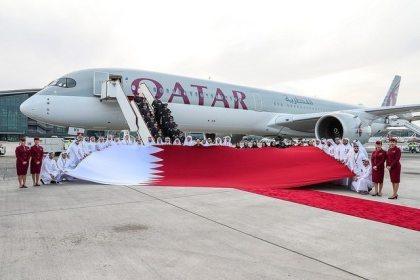 Qatar Airways' A350-1000 touches down in Doha