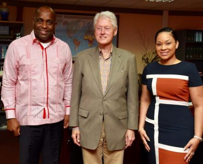 Former US President Clinton commits with Dominica on climate change