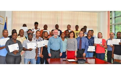 28 prospective tour guides complete basic course in tour guiding in Seychelles